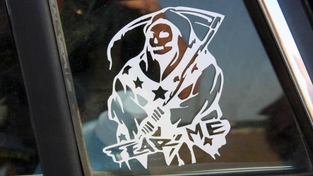 """Fear Me"" La Santa Muerte sticker..jpg"