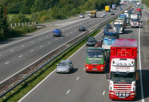 Fuel Protesters Blockade M4 Motorway