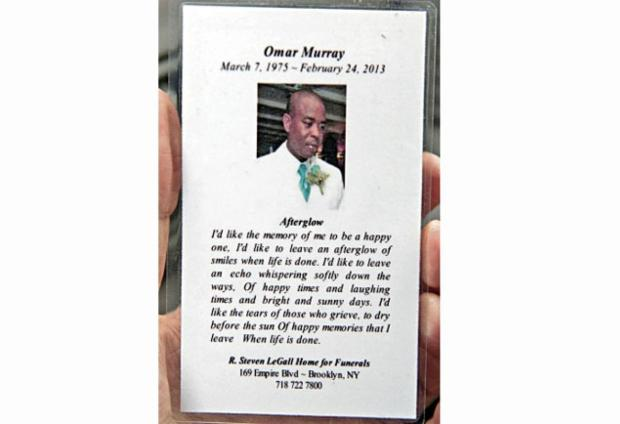 Church requiem mass program for Omar Murray, Saturday, March 9, 2013