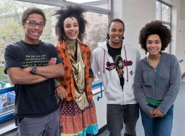 Danbury High School quadruplets, from left, Ray, Martina, Ken and Carol Crouch will all attend Yale University in the Fall. Photo taken Wednesday, April 28, 2010.jpg