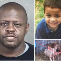 Unbelieveably evil, mean and cruel: Michael Jones who killed his seven-year-old son and fed the boy to his pigs jailed for life in Kansas city