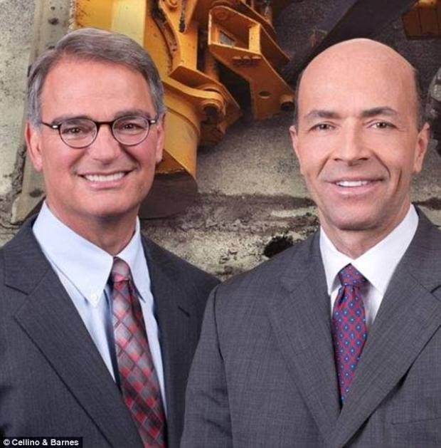Personal injury lawyers Ross Cellino Jr [left] and Stephen Barnes [right]