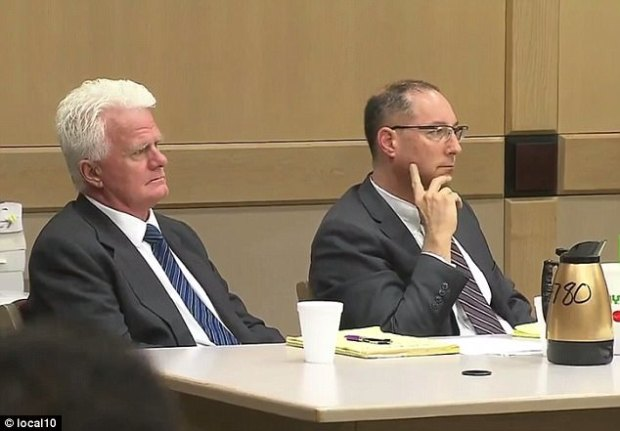 Richard Patterson [left], pictured in court with his attorney Ken Padowitz