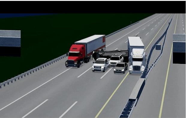 Animated sketxh of Morgan  vs Walmart crash from NTSB.png