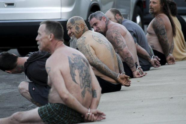 Feds arrest 22 members of the outlaw biker gang Vagos.