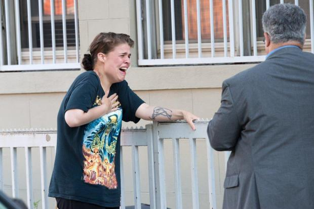 Threesome gone wrong victim_s girlfriend weeping after she arrived on the scene in Park Slope
