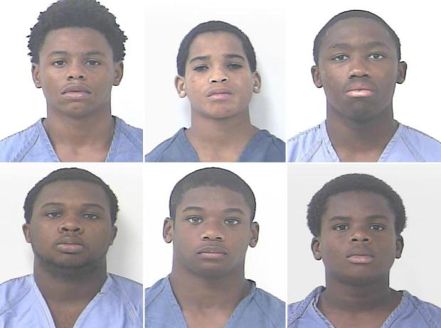 [Top L-R] Michael Bush, Joshua Sargeant and Rural Scott. [Bottom row L-R] Walter Walker, Shomari Smith and Jeremiah Laplace1.jpg