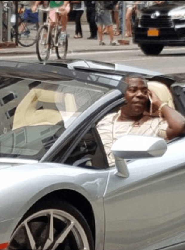 Walmart's insurance company is demanding Tracy Morgan, 48, be deposed over his multimillion-dollar payout stemming from the 2014 car accident involving the retailer's truck after Morgan was seen driving a Lambourghini.png