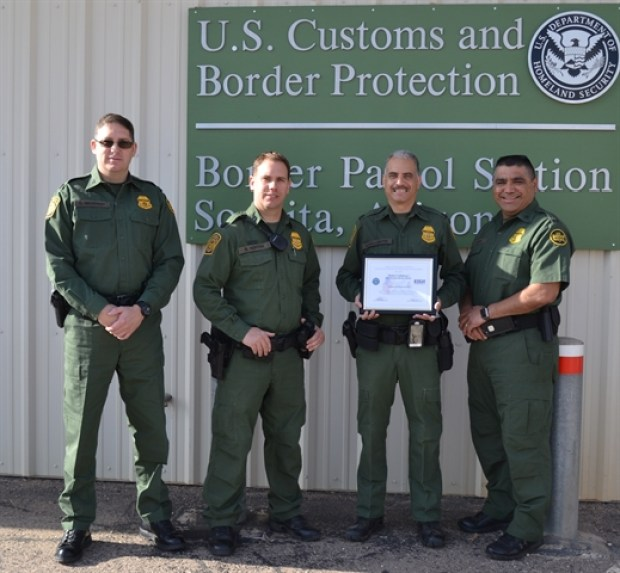 Border agent found the illegal stowaways were found at the Sonoita Station in Tuscon, Arizona .jpg