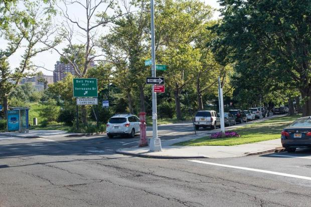 FDNY Emergency Medical Technicians spotted the small child steering the car on Ocean Ave. toward the busy Belt Parkway during rush hour on Thursday..jpg