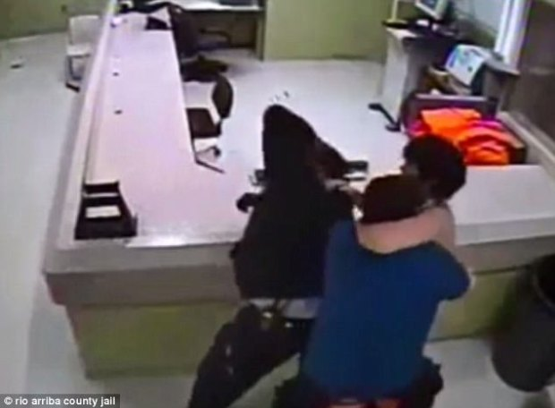 Footage shows Damian Herrera attacking officers in jail house 2