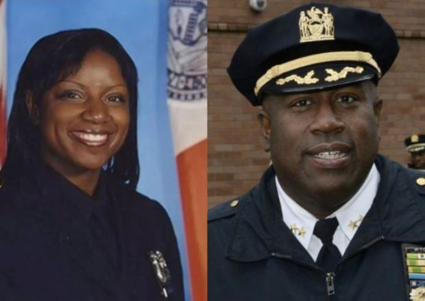Former NYPD officer Tabatha Foster and  Chief Jeffery Maddery 1.JPG