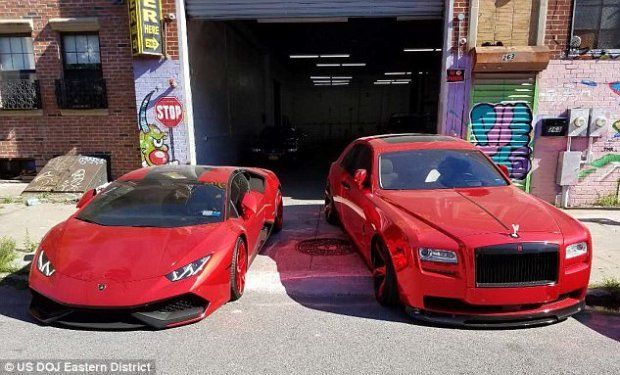 Lopez's Lamborghini beside Vasquez's Rolls Royce 1.jpg