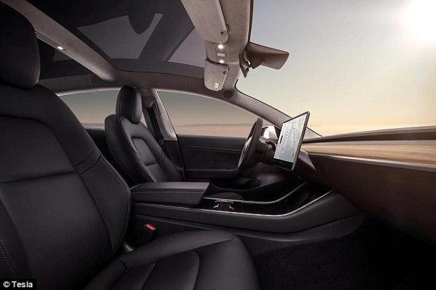 Model 3's minimalist interior.jpg