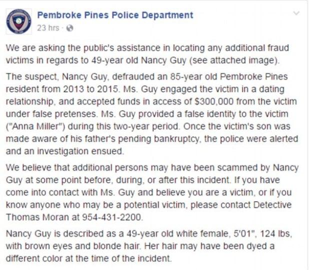 Report on Nancy from Pembroke police in Florida.jpg