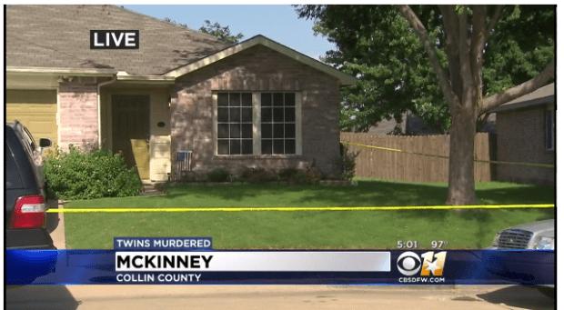 Crime scene; Bigham family house