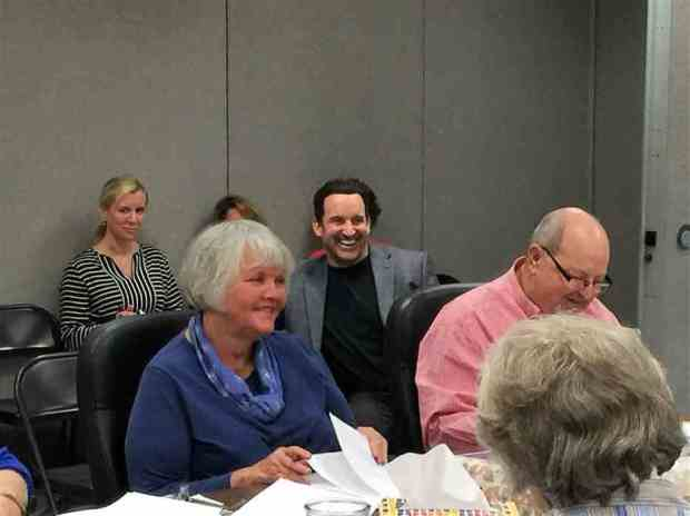 Dr. Calendine at the May RCS BOE meeting when his medical practice was approved to serve as the school's medical provider for the 2017-18 school year..jpg