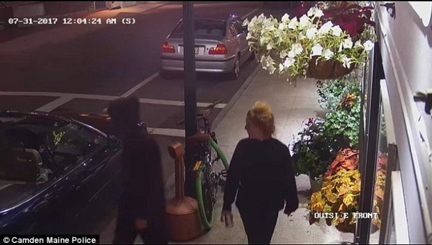 Jacob Flanagan and Talicia Martins caught by cameras during their burlaries 3