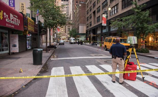 John Jolly suffered multiple stab wounds in the chest at the corner of E. 44th St. and Third Ave., Wednesday