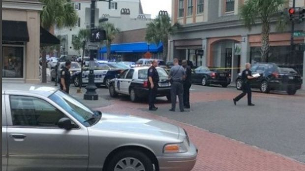 Police activity at the scene of a reported shooting in Charleston, South Carolina Thursday 2.jpg