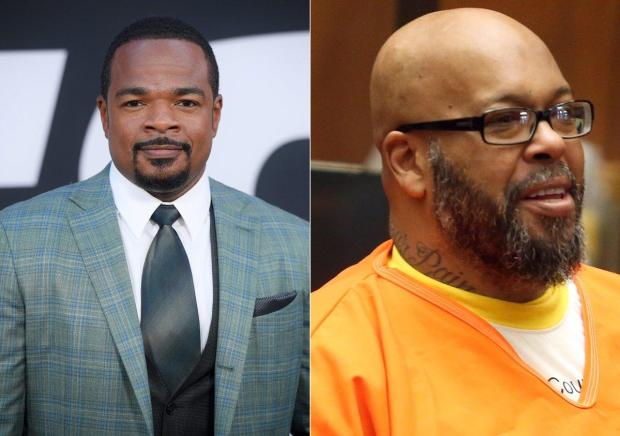 "Suge Knight [r], allegedly made death threats against ""Straight Outta Compton"" director F. Gary Gray in Aug 2014..jpg"