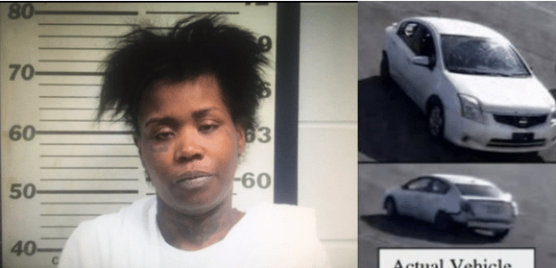 The oldest stripper Brittany Curry allegedly Cross after he helped them, buying a new tire and fixing it on their white getaway vehicle.png