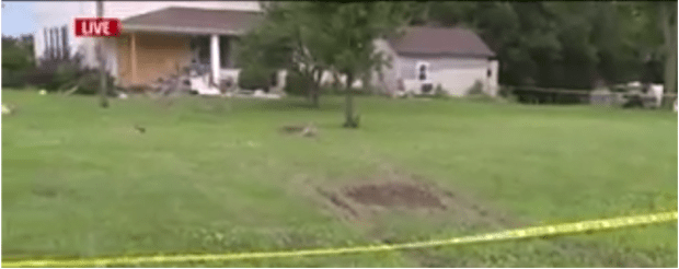The vehicle traveleda significant distance from the road to crash into the home.png
