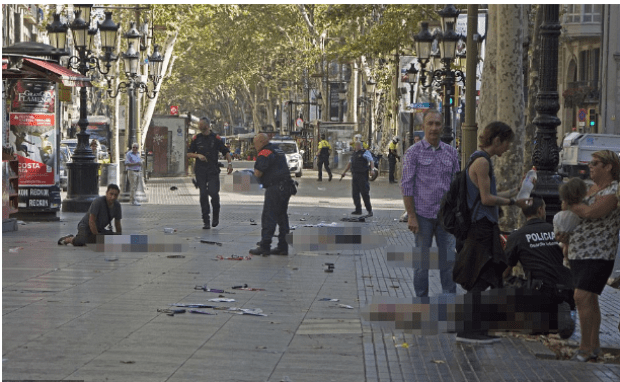 There are harrowing scenes in Barcelona after a van was driven into pedestrians.png