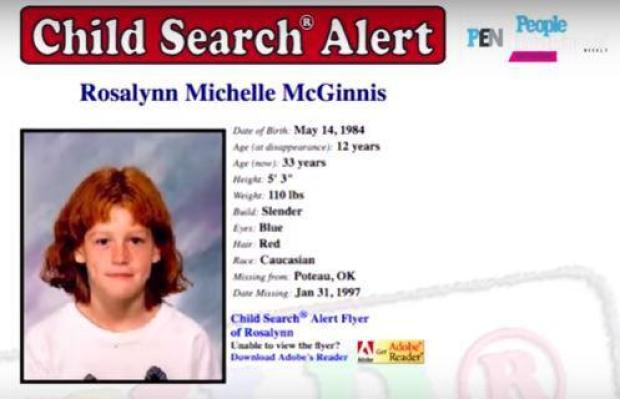 Rosalynn McGinnis missing person flyer