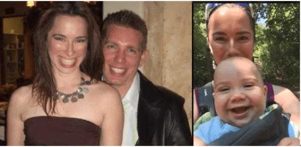 Annie (left) and Jason Fairbanks Annie with one of their daughters[right].png