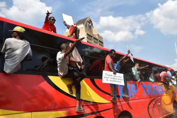 Hero's welcome, Mnangagwa eturned from exile on Wednesday.jpg