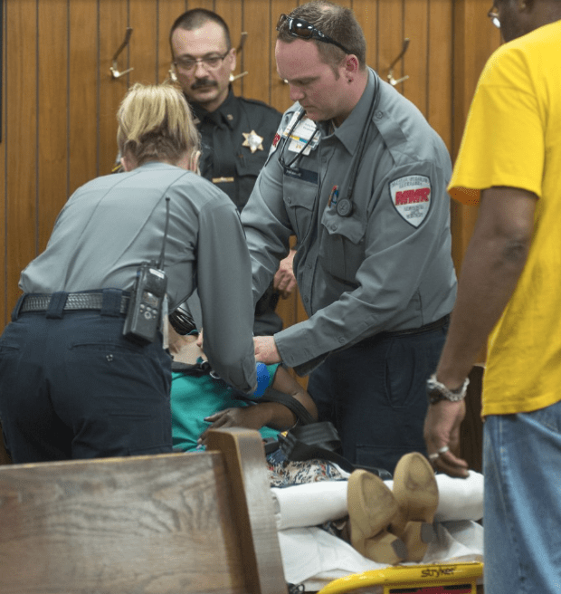 Lestina Marie Smith's mother collapses during preliminary hearing