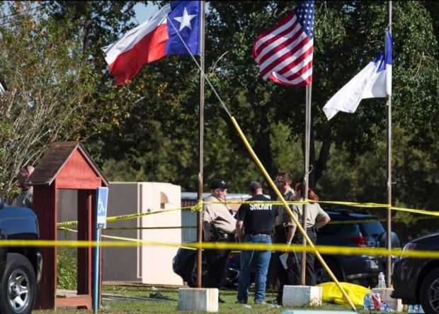 Police activity after Sunday's shooting in Texas 2