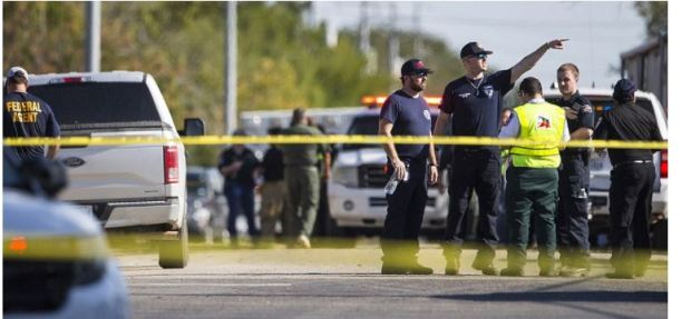 Police activity after Sunday's shooting in Texas 3