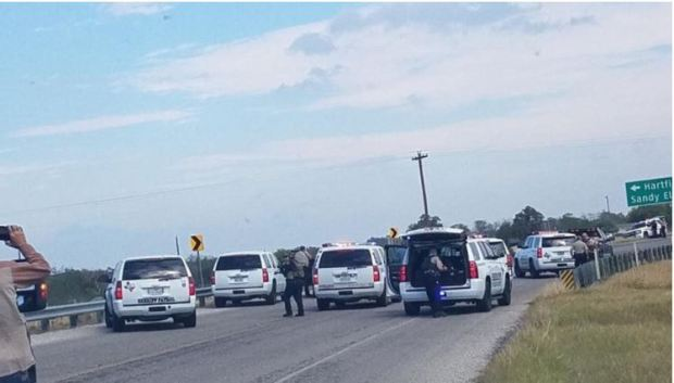 Police activity after Sunday's shooting in Texas