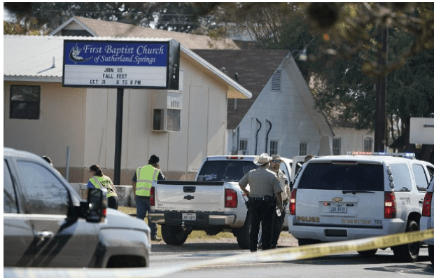 Police and FBI at the crime scene, The First Baptist Church of Sutherland Springs2.png