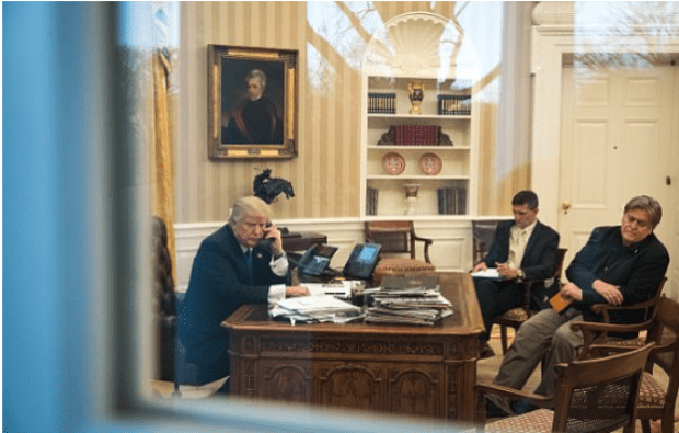 Donald Trump, Michael Flynn, and Steve Bannon in the Oval office .png