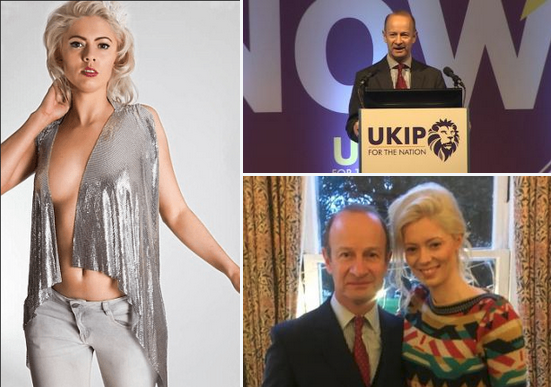 'Vile of mouth, vulgar in carriage and mean spirited'  UK party leader under fire as model lover, Jo Marney, is forced to apologize over insulting racist texts about Prince Harry's fiancée that said 'Meghan's seed will taint our Royal Family'
