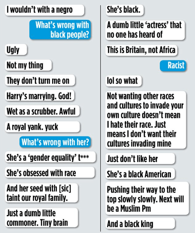 JoMarney'stexts that insulted and abused Meghan Markle 1.png
