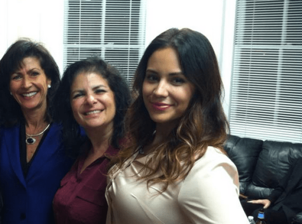 Maria Rodriguez-Gregg (right) with Freeholder Mary Ann O'Brien (left) and state Sen. Dawn Marie Addiego (center)