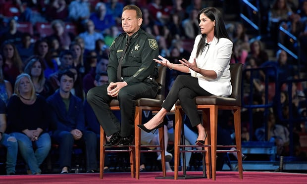 Dana Loesch and Sheriff Scott Israel during the CNN town hall 1.jpg