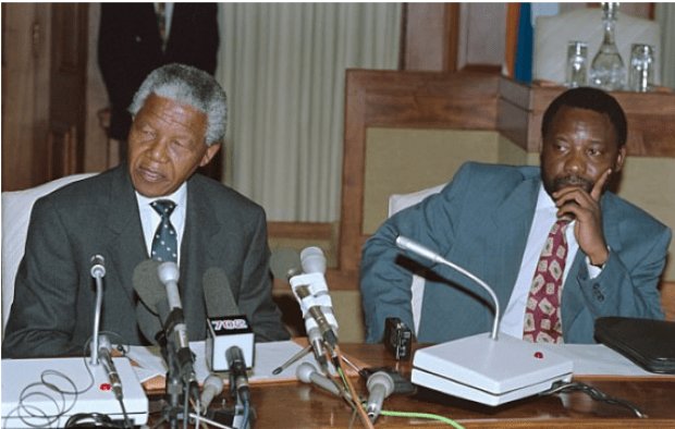 Nelson Mandela and Cyril Ramaphosa in 1994.png