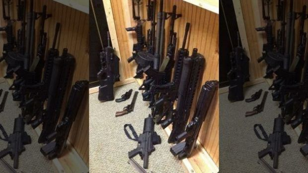 Photo posted by Joseph Nickell of several weapons he owned.jpg