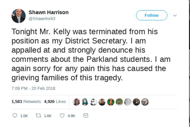 Shawn Harrison fires aide tweet 2.png