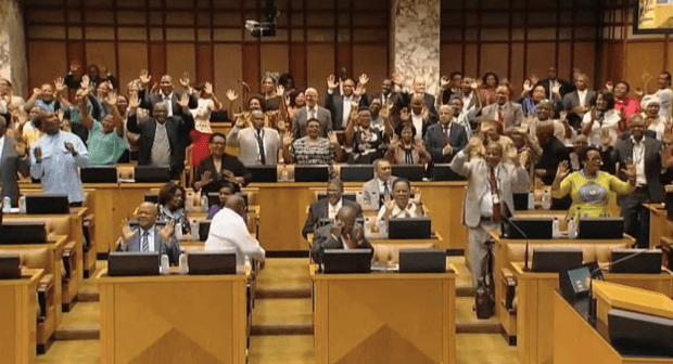 South African MPs vote Feb 15, 2018 electing Cyril Ramphosa as president 2.png