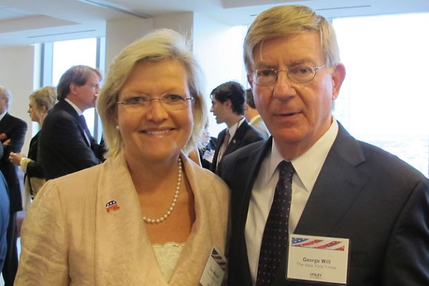 Cleta Mitchell and George Will 2.jpg