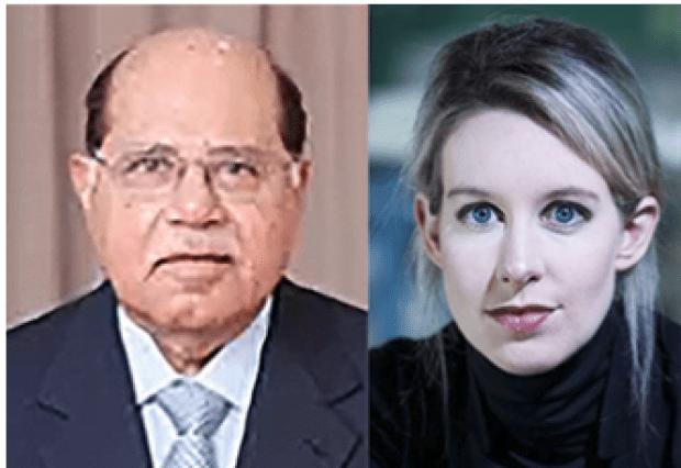 "Ramesh ""Sunny"" Balwani, [left] and Elizabeth Holmes"
