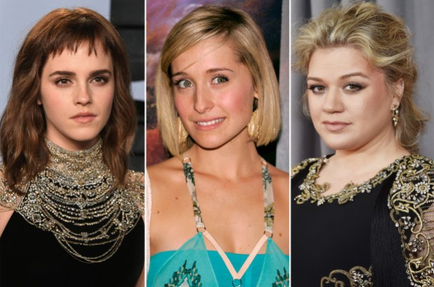 Allison Mack, [left], Emma Watson, [centre], and Kelly Clarkson 1.jpg