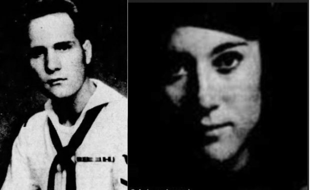 Joseph James DeAngelo, [left] and ex-fiancée, the former  Bonnie Jean Colwel [left], now Bonnie Ueltzen.PNG