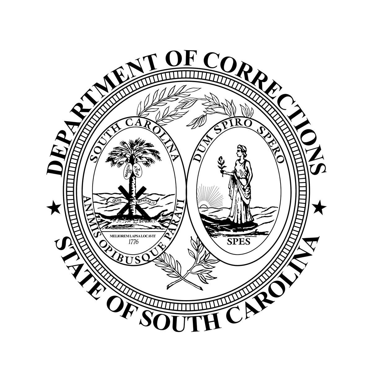 badge for South Carolina corresctions dept